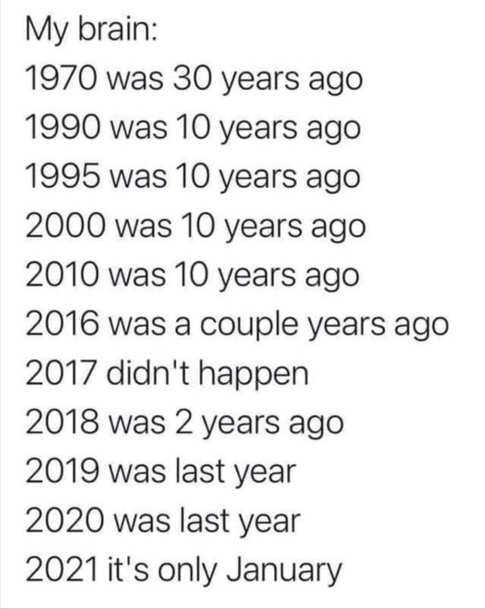 1970 1990 2017 2020 still january my brain