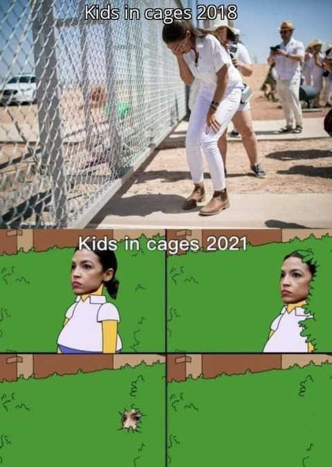 aoc kids in cages 2018 crying photo up 2021 homer bushes