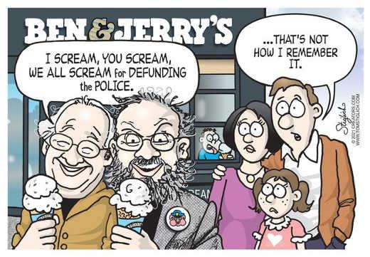 ben jerrys scream for defunding police