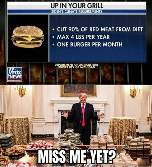 biden red meat climate change requirements max burgers per month