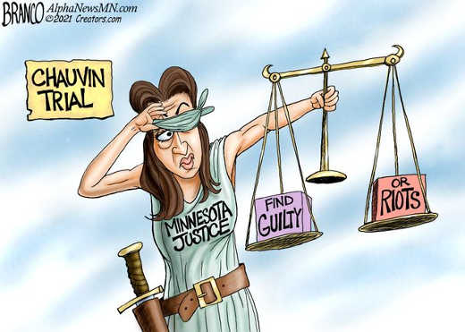 chauvin trial find guilty or riots minnesota lady justice