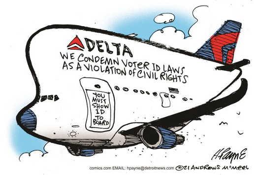 delta show id to board condemn voter id