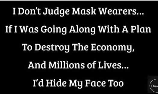 dont judge mask wearers if going along with plan to destroy economy hide face too