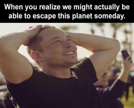 elon musk escape earth mars someday
