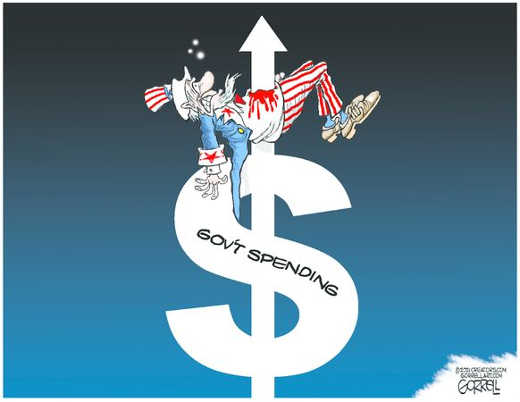 government spending debt stake heart americans