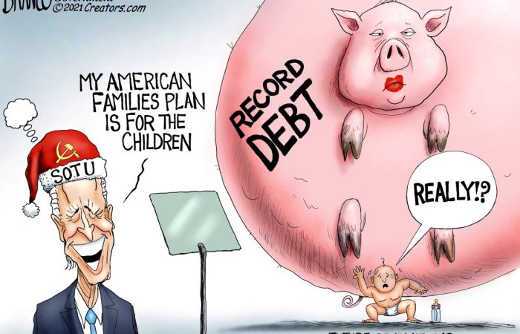 joe biden families plan to children record national debt pork spending