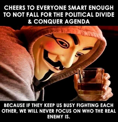 message cheers who didnt fall for divide conquer agenda