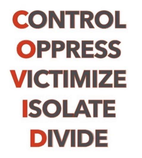 message covid control oppress victimize isolate divide