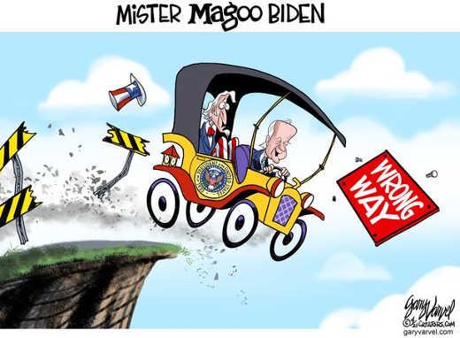 mister magoo joe biden driving us off cliff