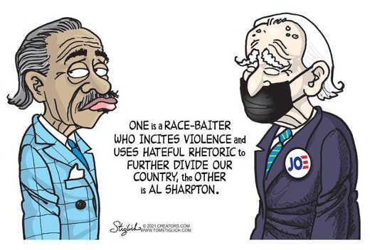 one is race baiter incites hateful rhetoric al sharpton joe biden