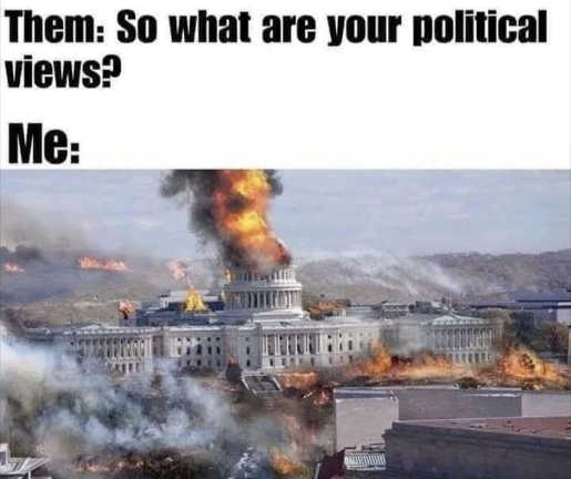 them what are your political views me dc on fire