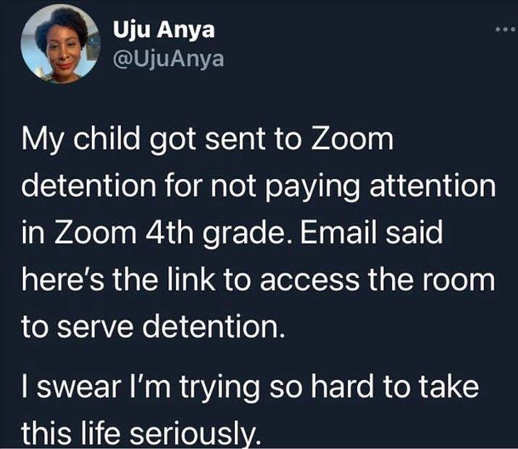 tweet anya zoom detention link taking life seriously