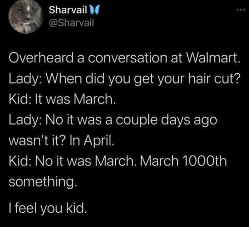 tweet sharvail walmart kid haircut march 1000th