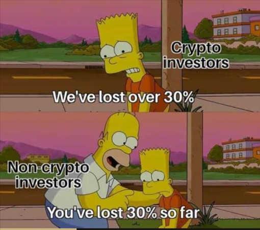 bart lost 30 percent crypto homer so far
