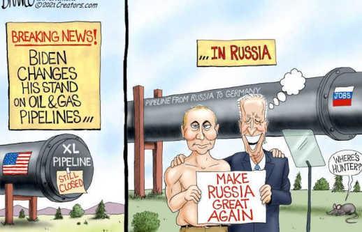biden russian oil gas pipeline make russia great again keystone