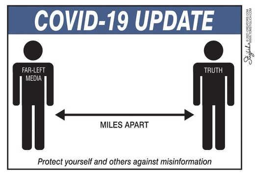 covid 19 updated far left media far apart truth misinformation