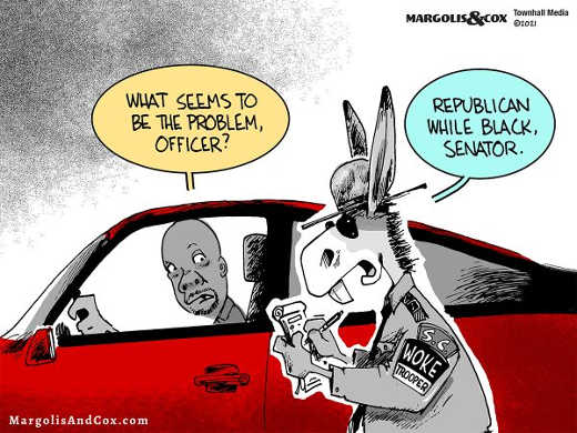 democrat cop woke trooper tim scott republican black senator