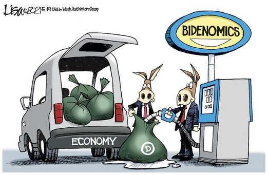 democrats bidenomics filling gas plastic bags