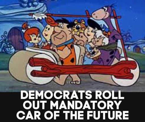 flintstones democrats roll out mandatory car of the future