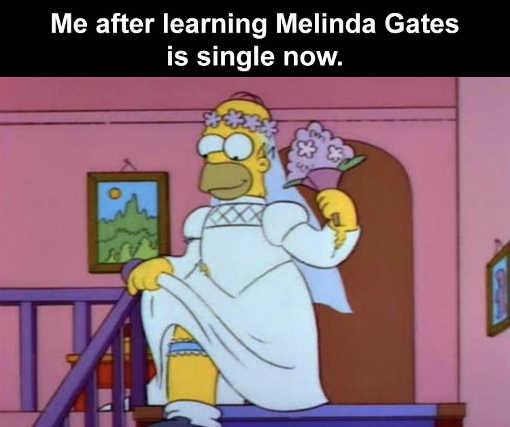 homer me wedding dress learning melinda gates single