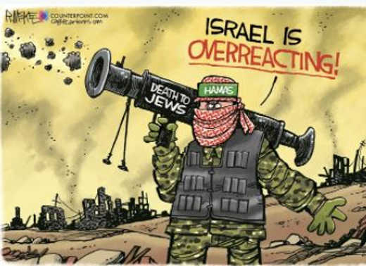 israel is overreacting hamas death to jews rocket launching
