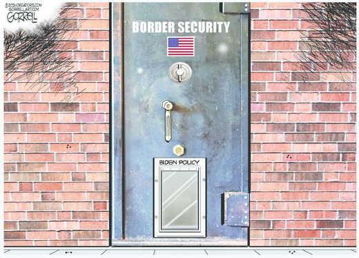 joe biden border security doggie door