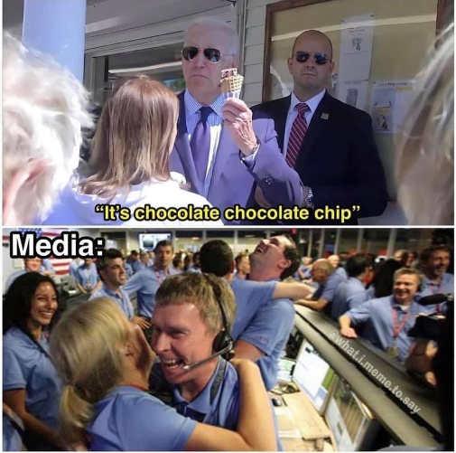 joe biden chocolate chip ice cream media excited