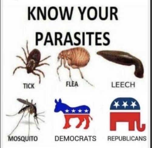 know your parasites republicans democrats ticks mosquitos