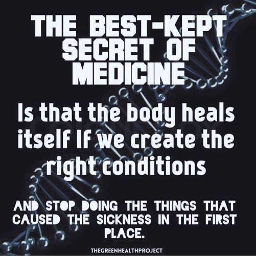 message best kept secret of medicine body heals itself right conditions