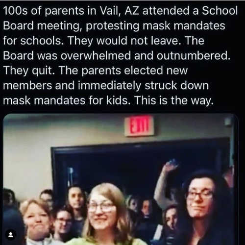 parents vail az school board elected new school board struck mask mandates