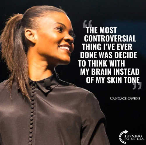 quote candace owens most controversial think brain not skin tone
