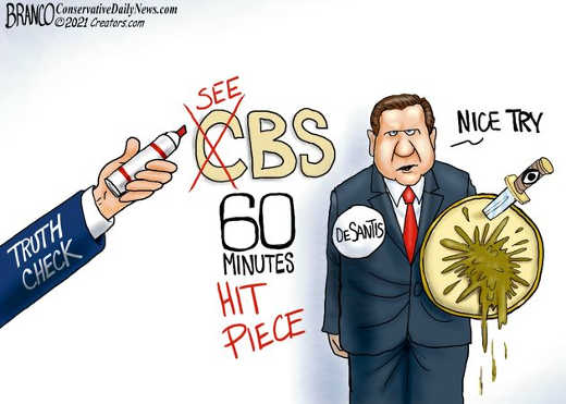 see bs cbs 60 minutes hit piece ron desantis