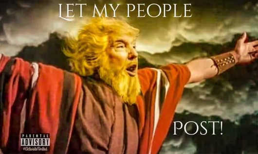 trump moses let my people post