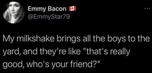 tweet bacon milkshake brings boys to yard