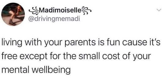 tweet mademoselle living with parents free mental wellbeing