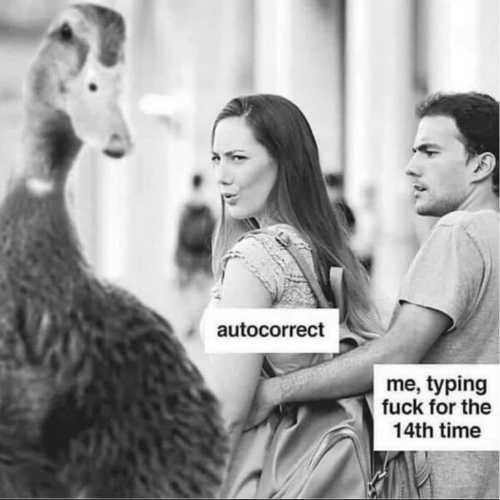 autocorrect me typing fuck 14th time duck
