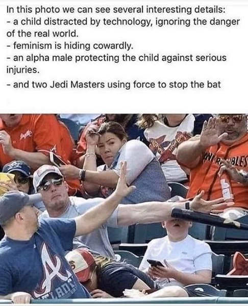 bat stopped by parent kid phone jedi masters