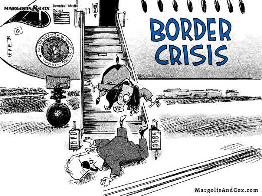 border crisis kamala joe biden both falling