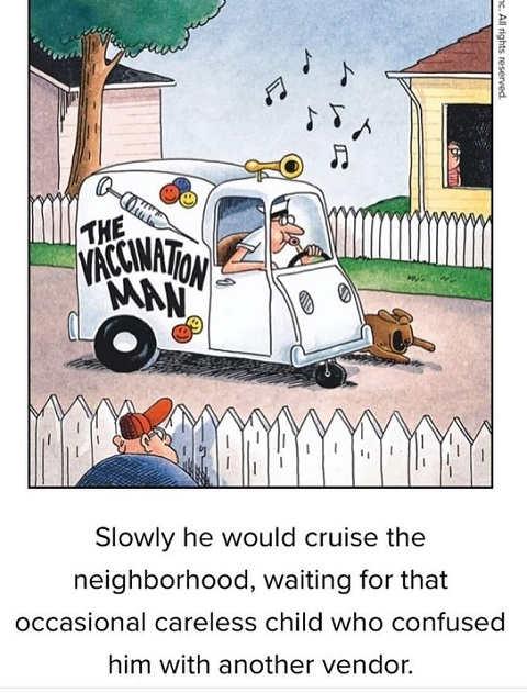 far side vaccination man ice cream truck