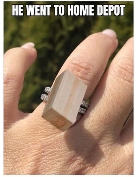 he went to home depot lumber ring