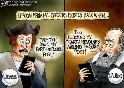 if social media fact checkers existed columbus galileo earth is round post revolves around sun