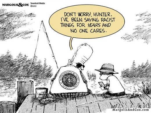 joe biden hunter fishing being saying racist stuff years no one cares