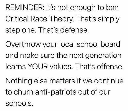message reminder not enough ban crc overthrow local school board nothing else matters generation anti-patriots