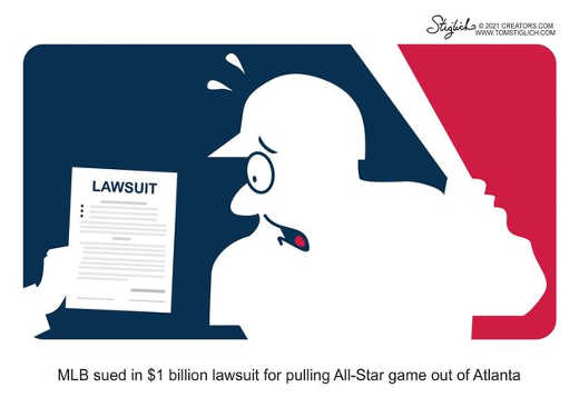 mlb sued 1 billion pulling all star game out of atlanta