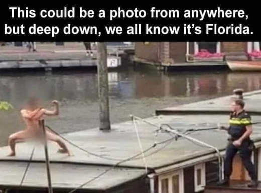 naked guy cops could be anywhere know florida