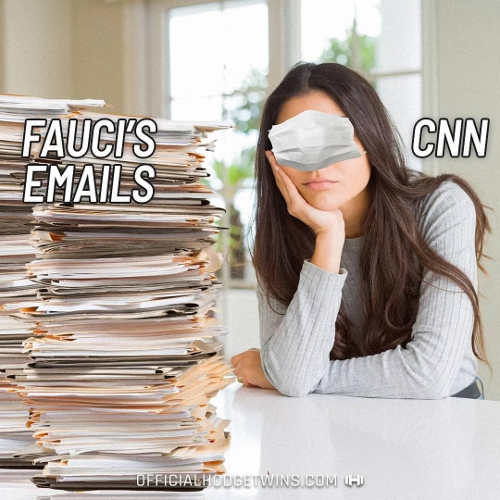 stack fauci emails cnn mask over eyes