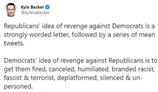 tweet becker republicans revenge democrats deplatform silence destroy