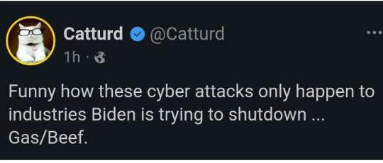 tweet catturd funny how cyberattacks only happen areas biden wants to shut down gas beef