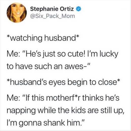 tweet stephanie ortiz husband napping shank
