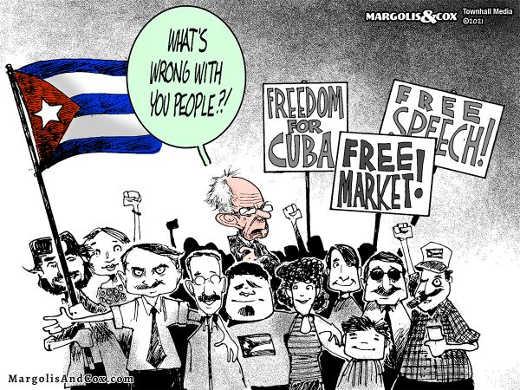bernie sanders cubans free speech market protest